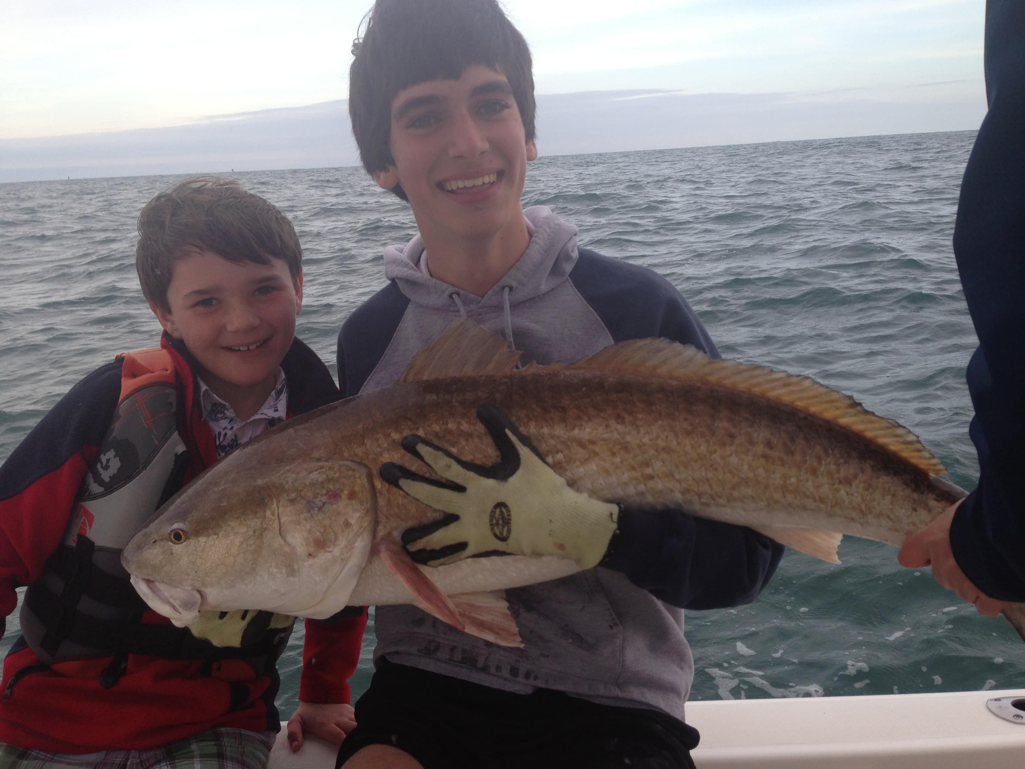 Big redfish caught by kid this month
