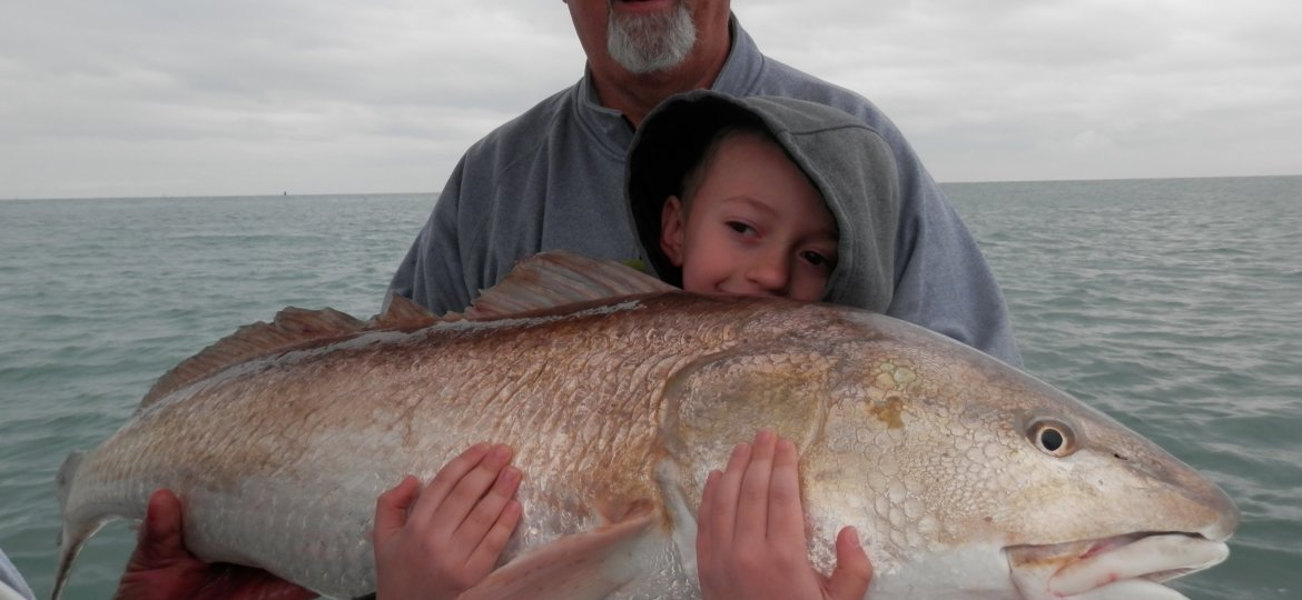 02 Mar Redfish Caught By Kids This Month On Fishing Charter